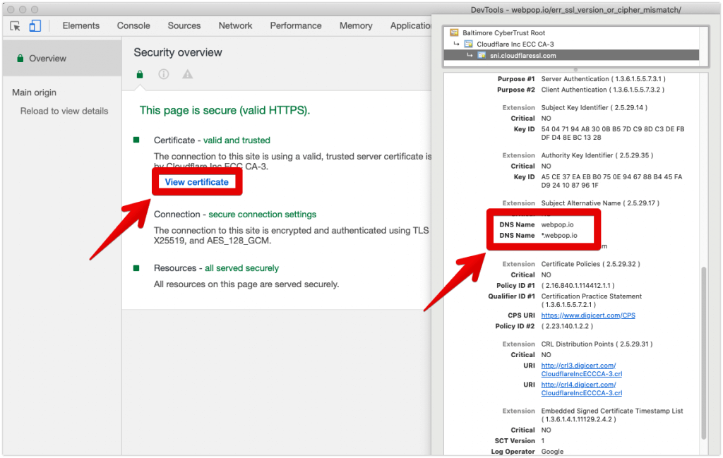 ERR_SSL_VERSION_OR_CIPHER_MISMATCH Check issued domain on SSL certificate in Chrome