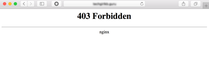 Cloudflare 403 Forbidden Error Nginx