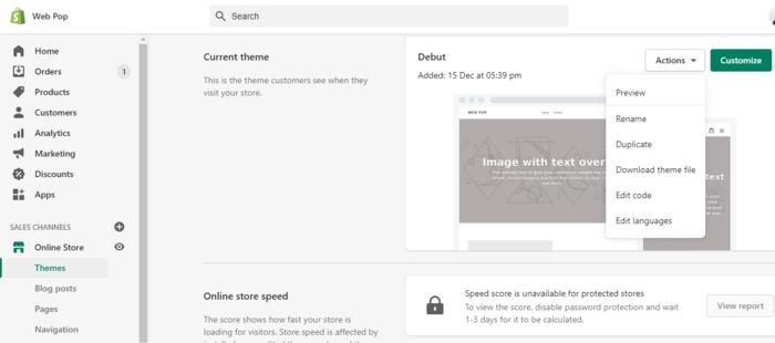 Shopify Backup Duplicate Theme Download Theme