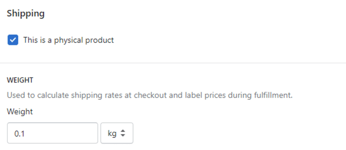 Shopify Checkbox Product Requires Shipping