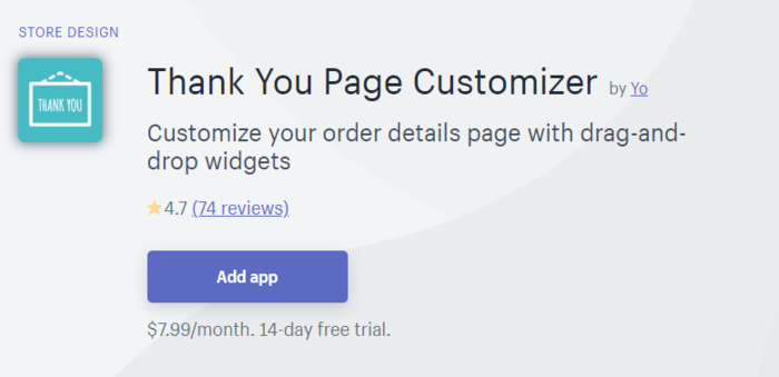 Shopify Thank You Page Customizer App